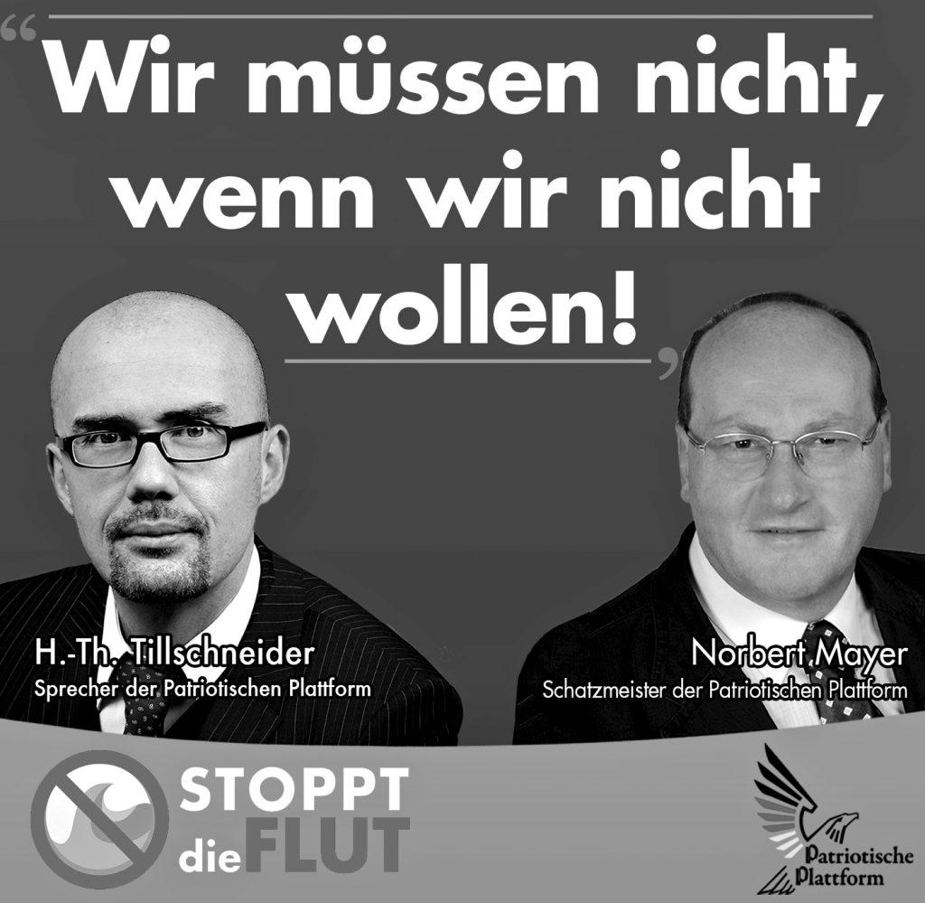 Tillschneider von der »Patriotischen Plattform« zusammen mit Mayer aus Freital/Sachsen